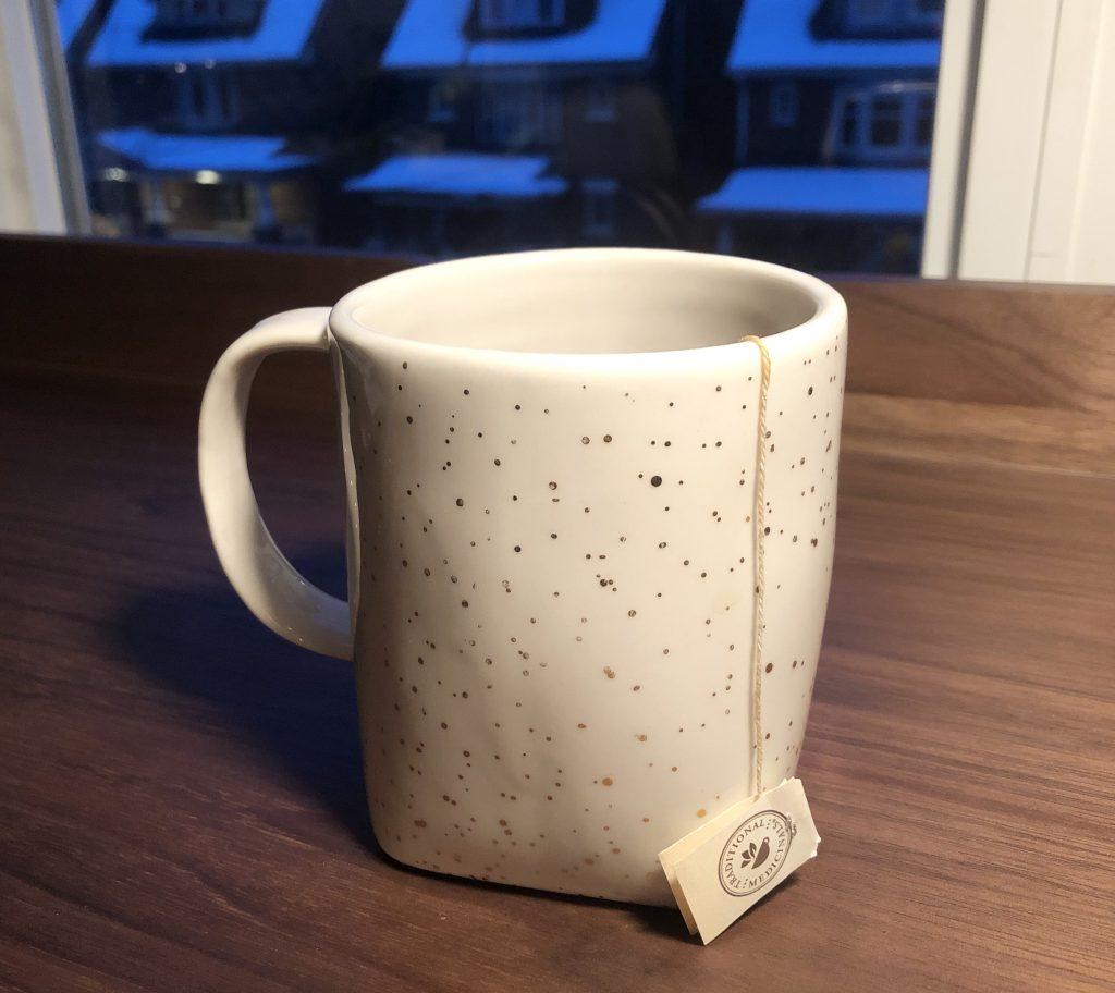 close up of a mug of tea