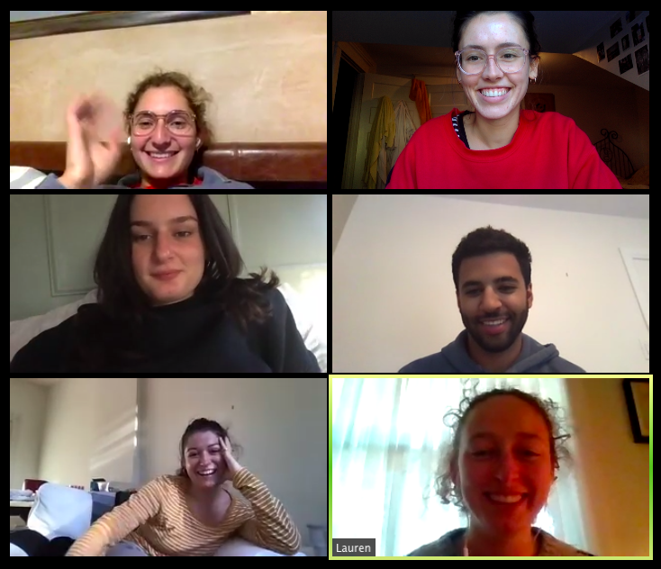 screenshot of smiling people on zoom