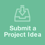 Image with link to how to submit a project idea directly to the Innovation Hub.