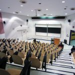 Empty, modern-looking lecture hall