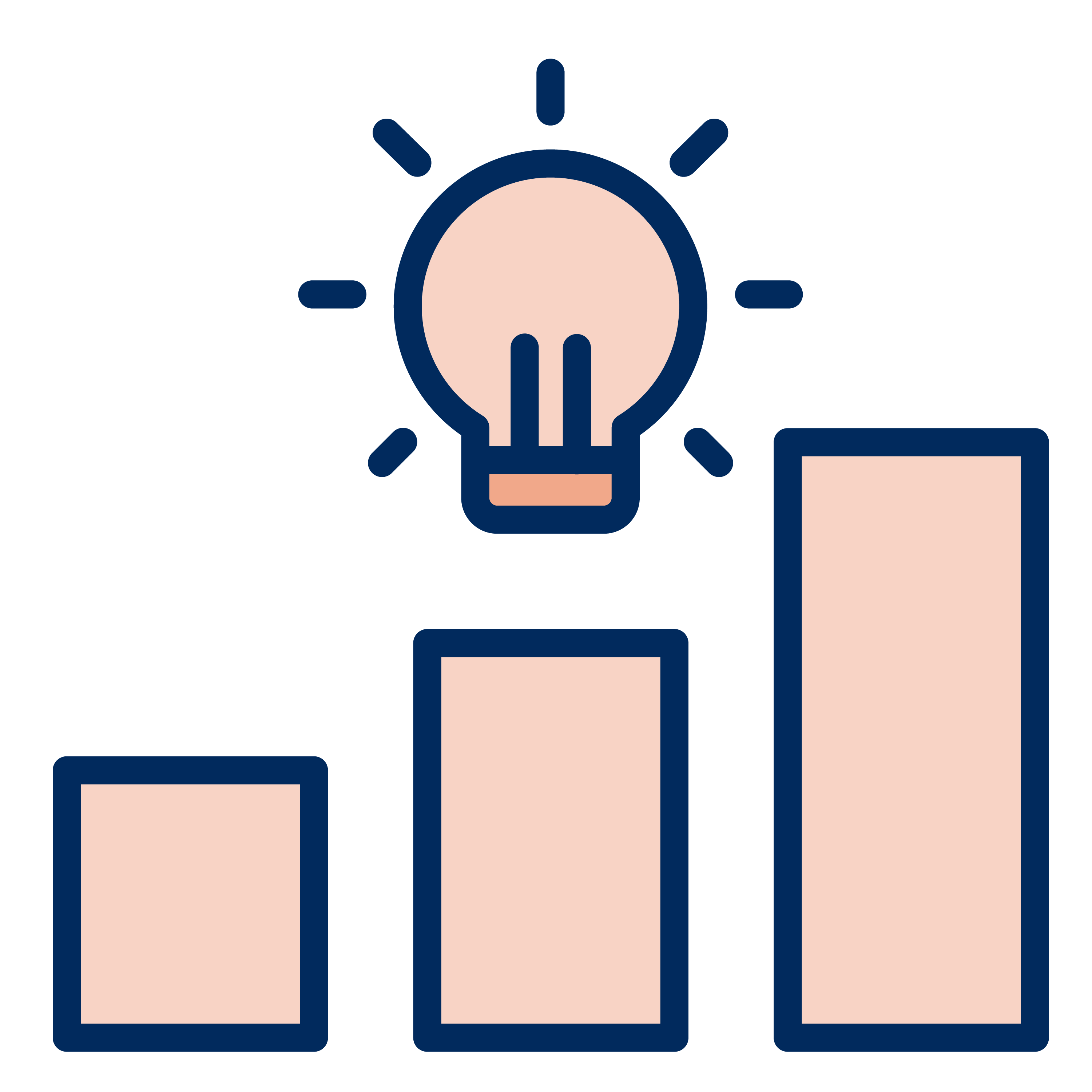Graph with a light bulb hovering above