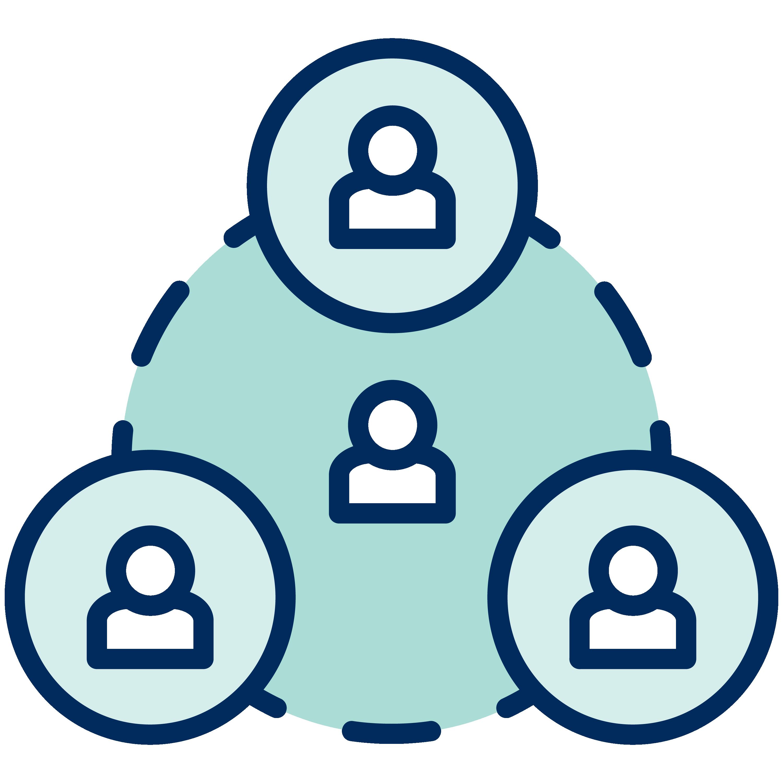 Individuals interconnected.