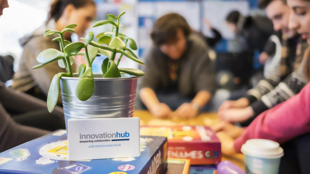 Teams at work at the Innovation Hub