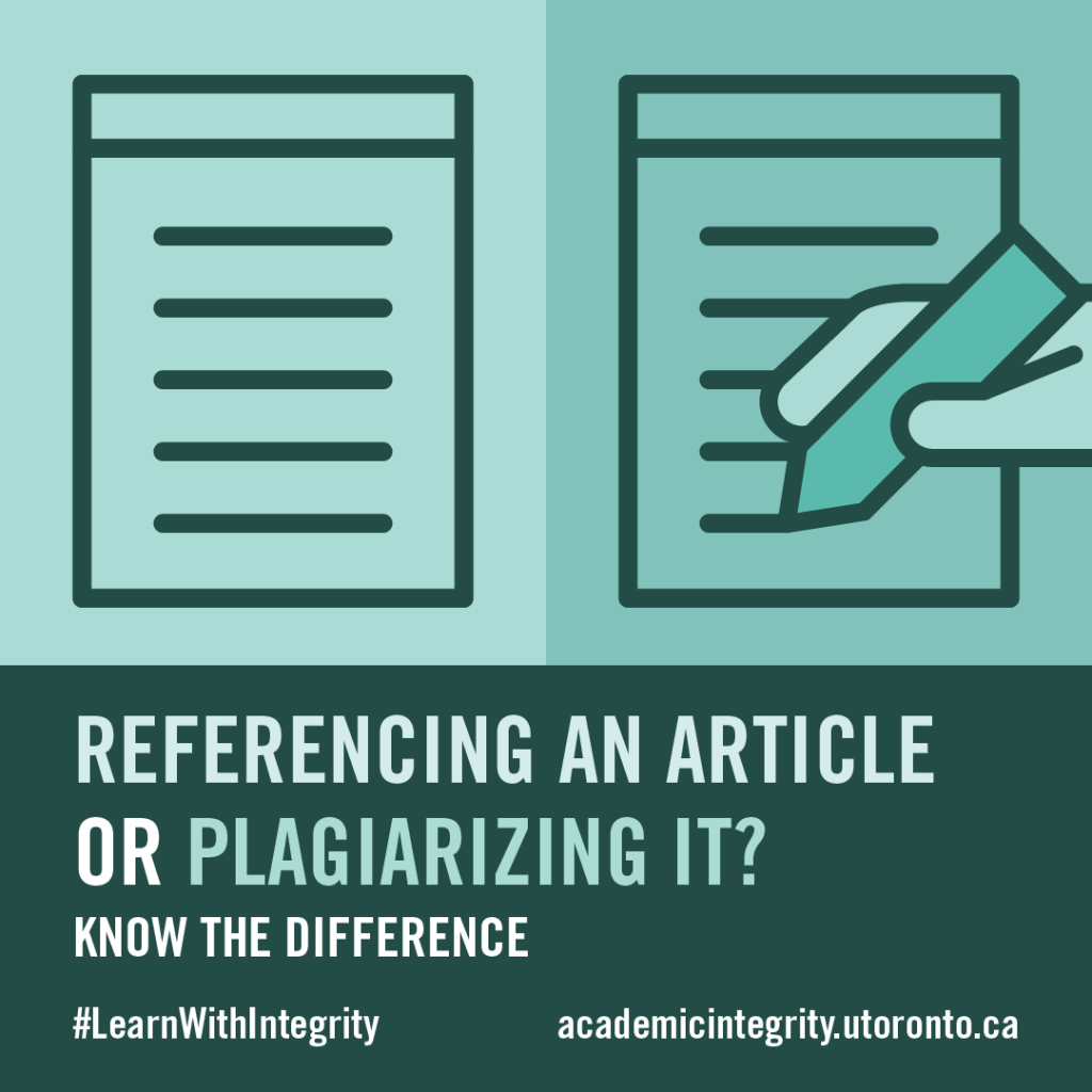 An online article is on one side, and a hand copying the article is on the other side