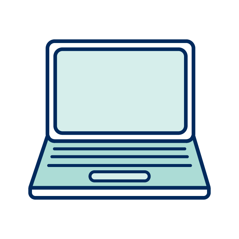 An illustration of a laptop