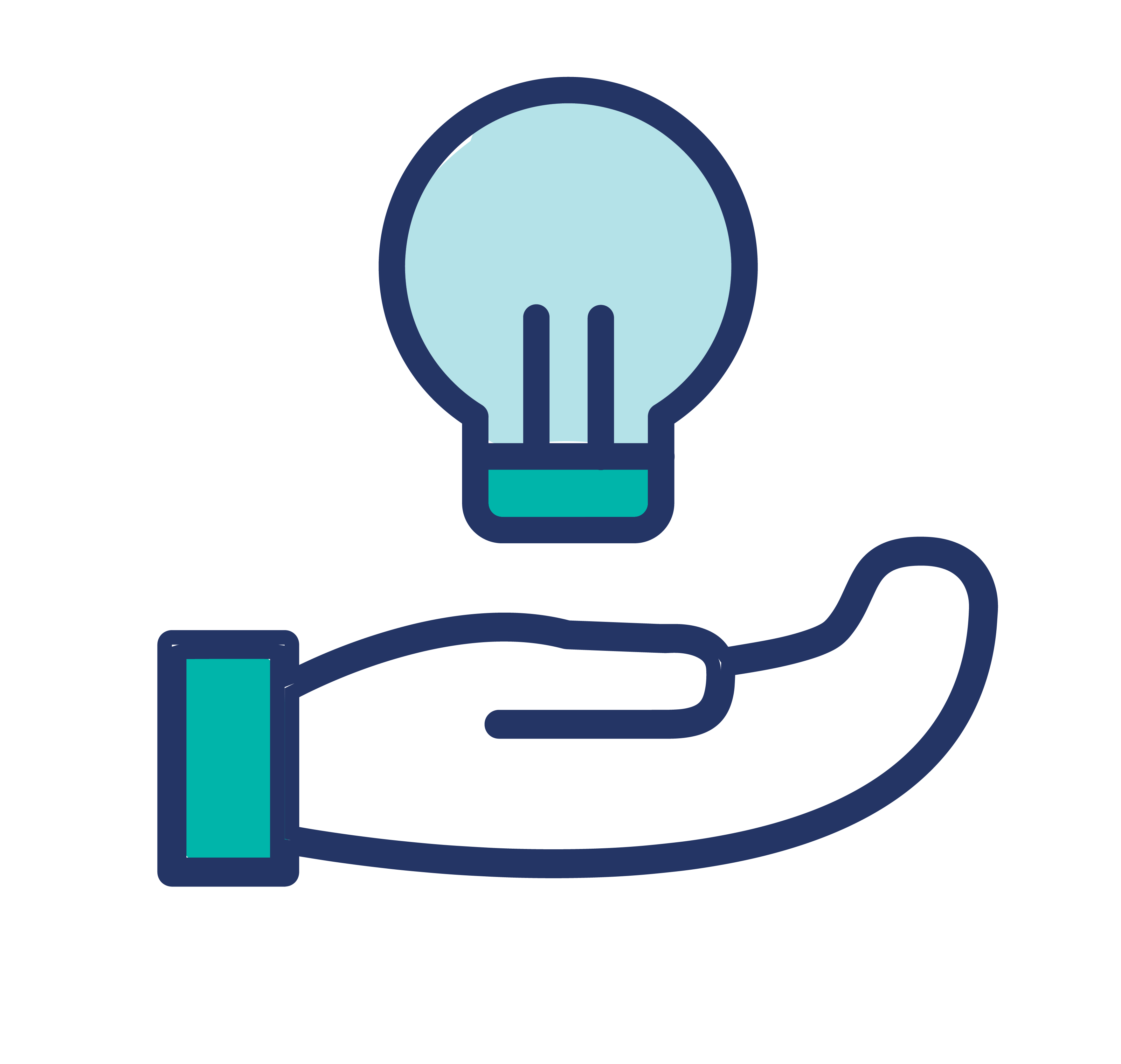 Icon: Hand holding a lightbulb