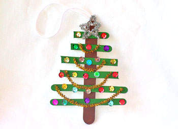Craft Ideas Picture Frames on Preschool Crafts For Kids   Christmas Tree Craft Stick Ornament Craft