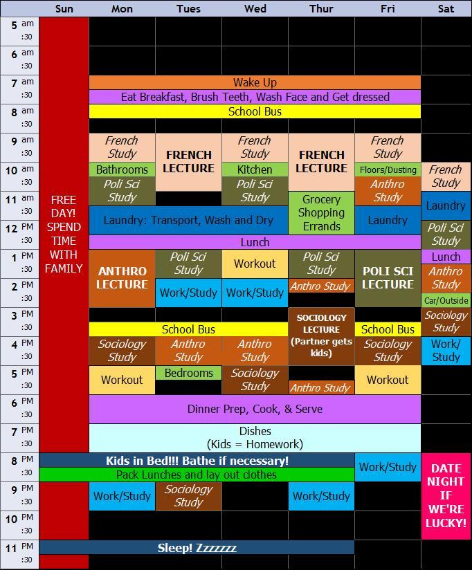 Malinda Weekly Schedule