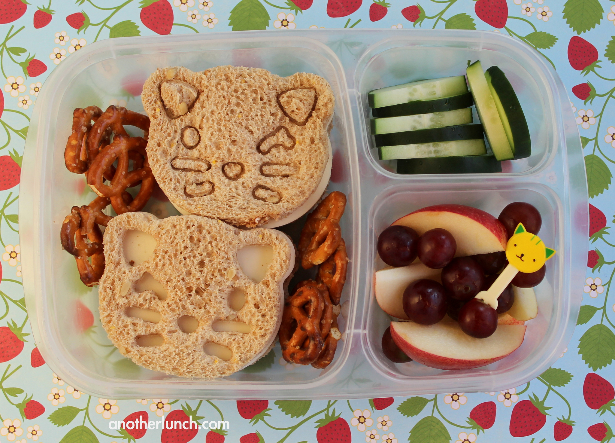 Cute Kitten Bento Easylunchboxes lunch By Melissa on Flickr