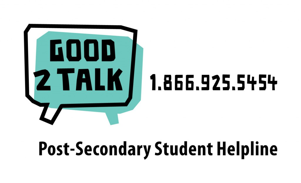 Good2Talk is a resource for Ontario Post-Secondary Students
