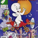 Casper the Friendly Ghost sitting on a plane.