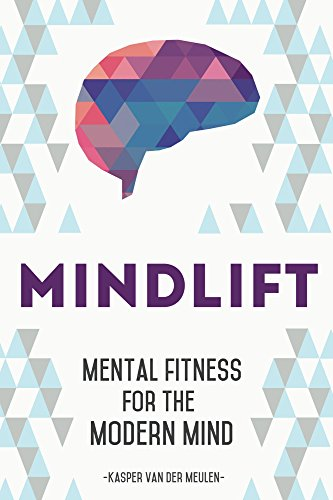 "Cover of the book Mindlift, a white and blue cover with a pink and blue brain above ""mindlift""."