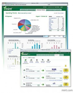 Mint.com uses various graphs and pie charts to track your personal spending and offers alternate spending options and suggestions