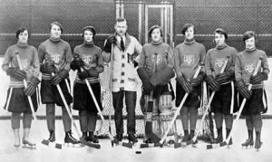 The women's intercollegiate hockey team, 1926.