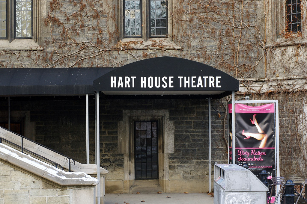 The outside of Hart House Theatre