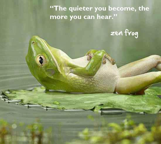 On Zen Frogs And Creating Happiness