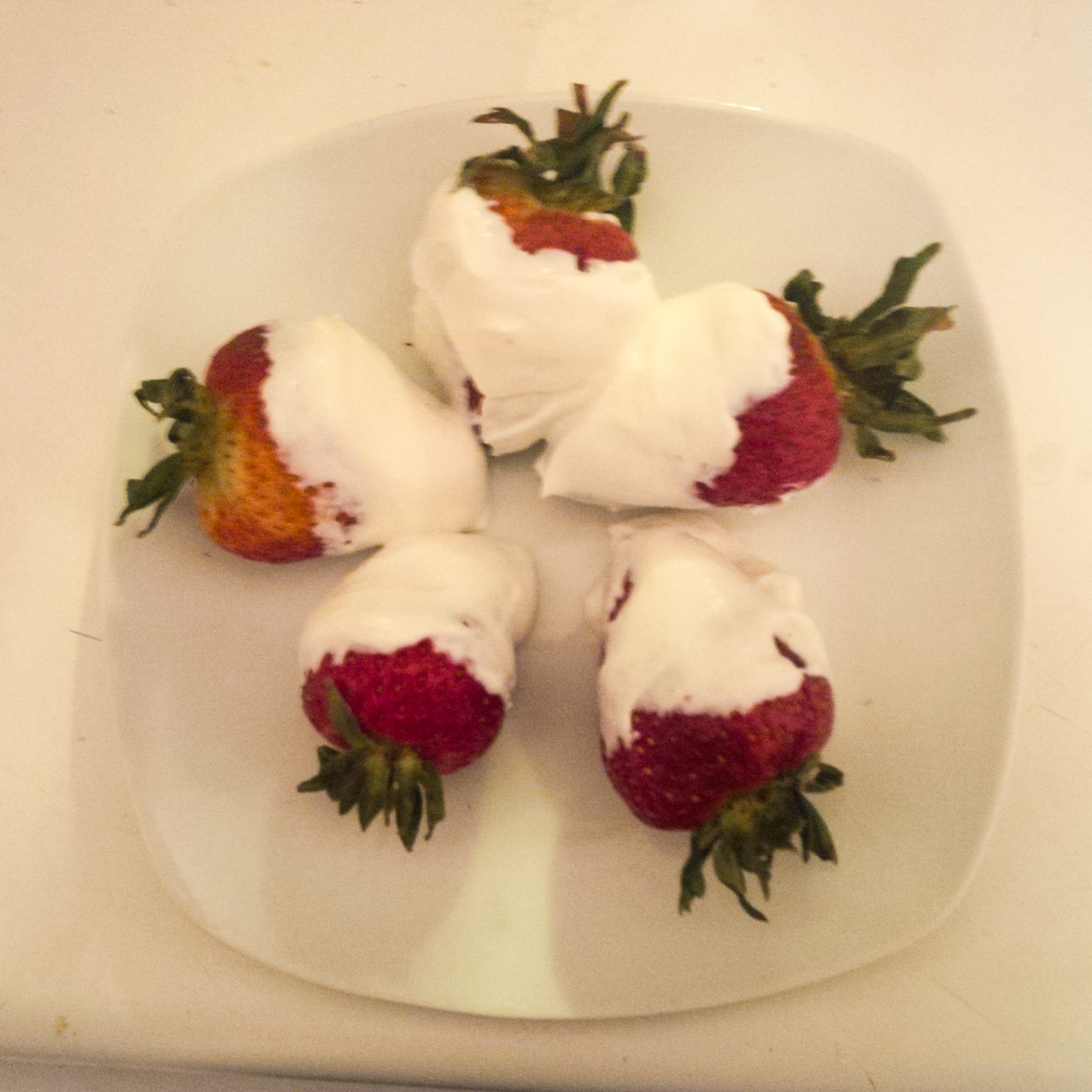 Strawberries in Greek yoghurt