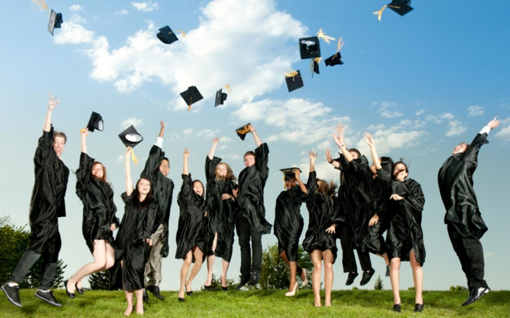The picture-perfect version of graduation. The real thing comes with a big slice of uncertainty. Via parade.condenast.com