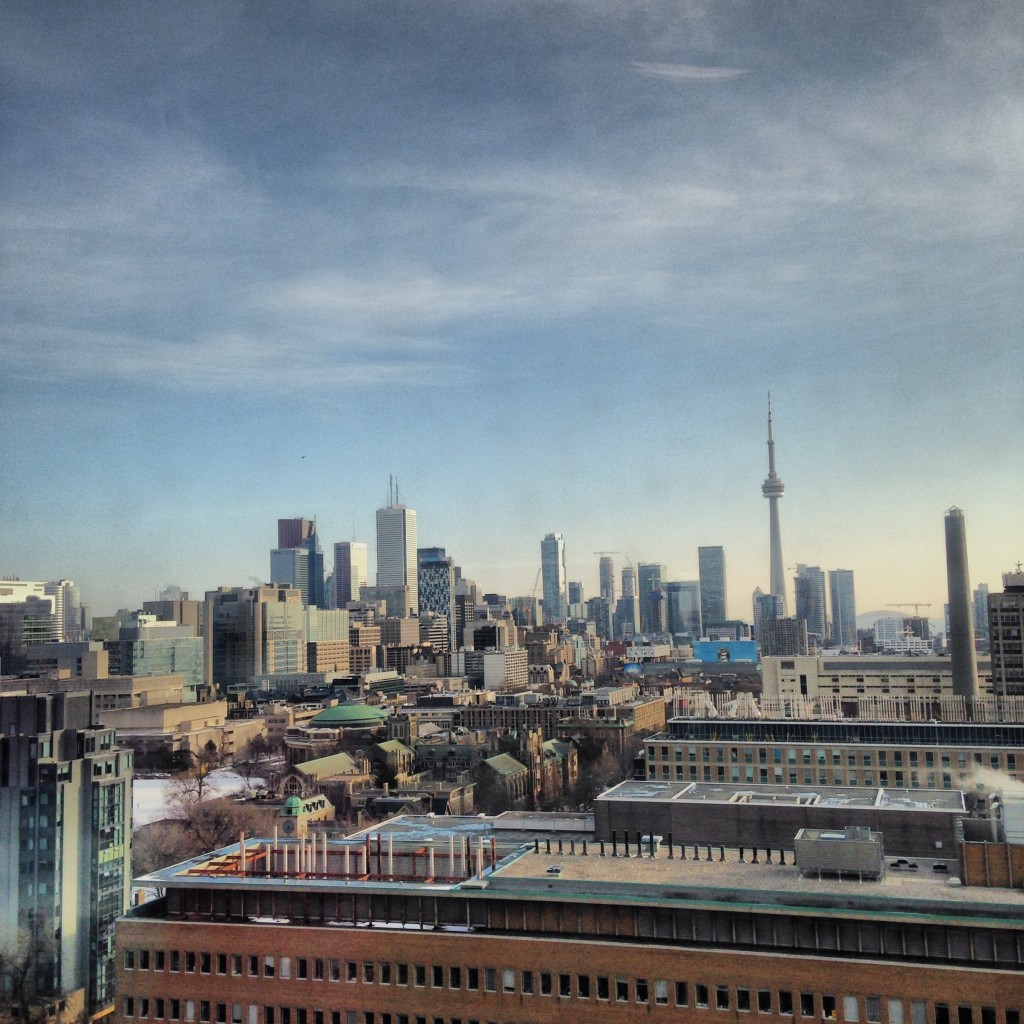 The iconic view from the 12th Floor of Robarts - St. George Corner