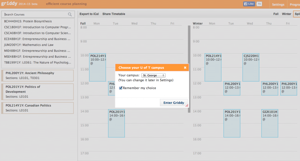 Griddy is an awesome tool that helps you plan our your schedule! Check it out by clicking this picture