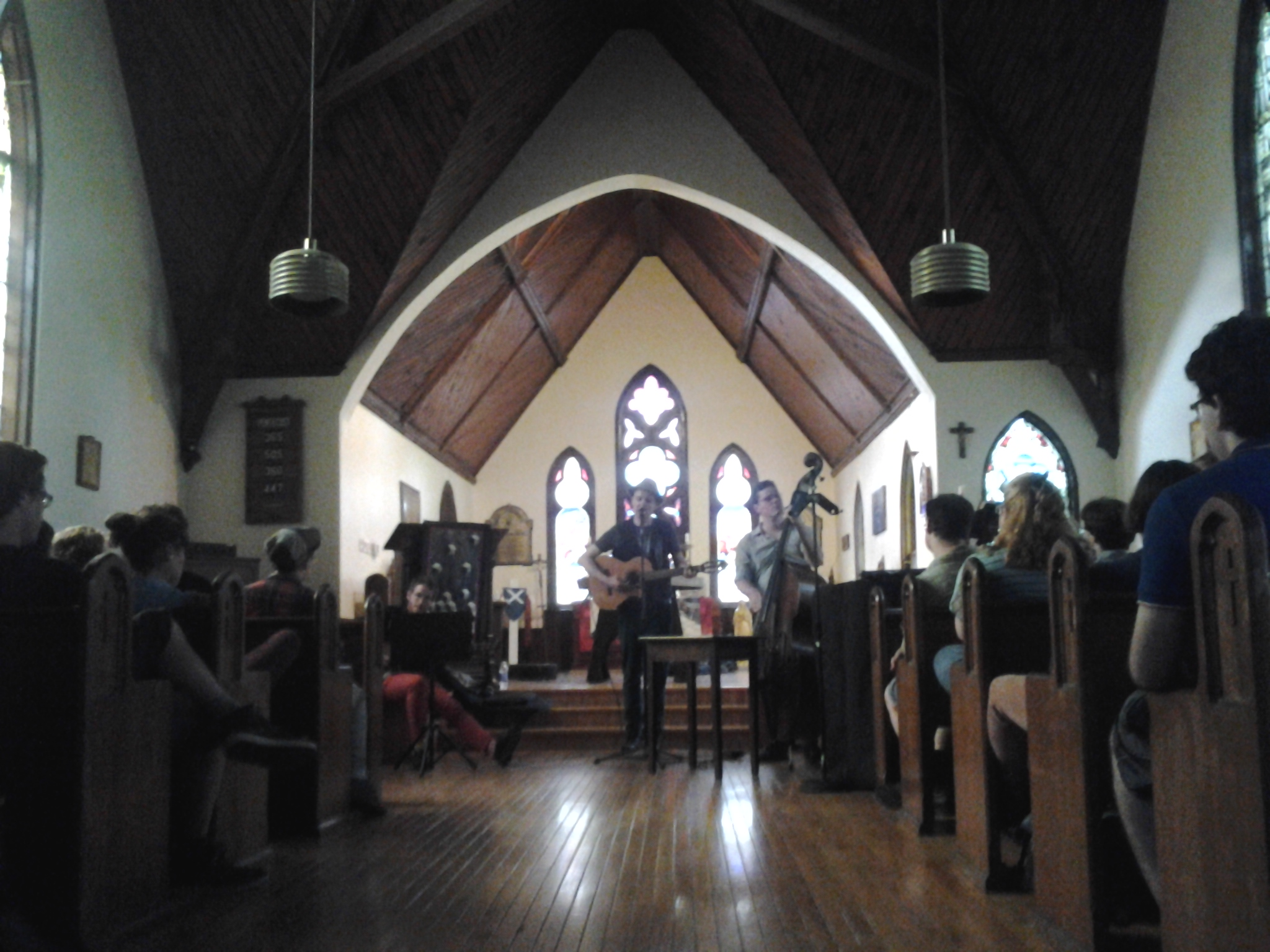 John Southworth playing in St. Andrew's Church, Poor Pilgrim Island Show 2014.
