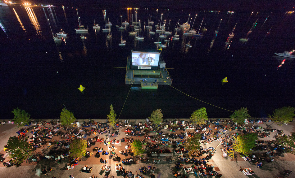 Toronto's awesome sail-In cinema. Image via. http://www.sailincinema.com/media.aspx