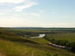 A view out over the Bow River Valley in the foothills of southern Alberta