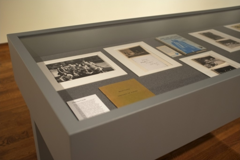 close up of papers and  in the Ginsberg exhibit