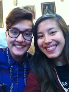 Me and my friend at Queer Women on Campus!