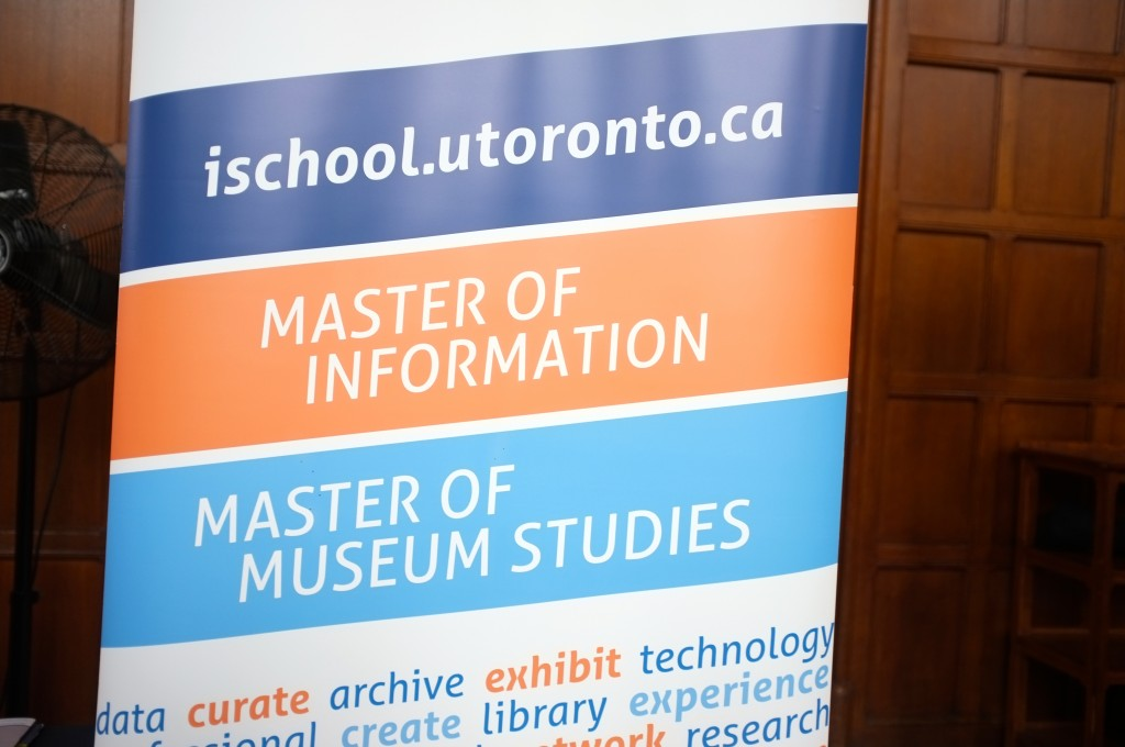 banner with information about the U of T iSchool's Mater of Museum and Matser of Information studies programs