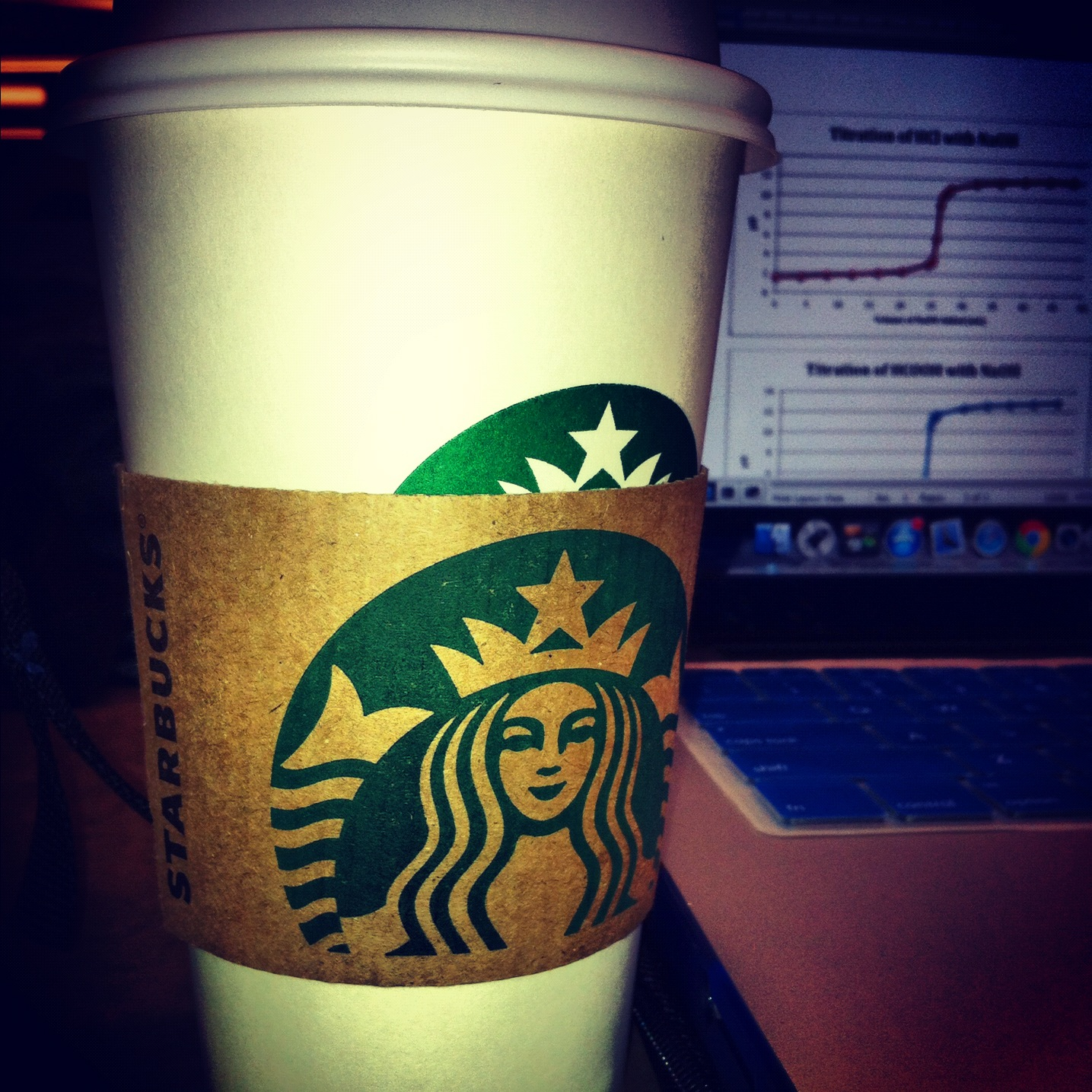 Picture of white Starbucks coffee cup.