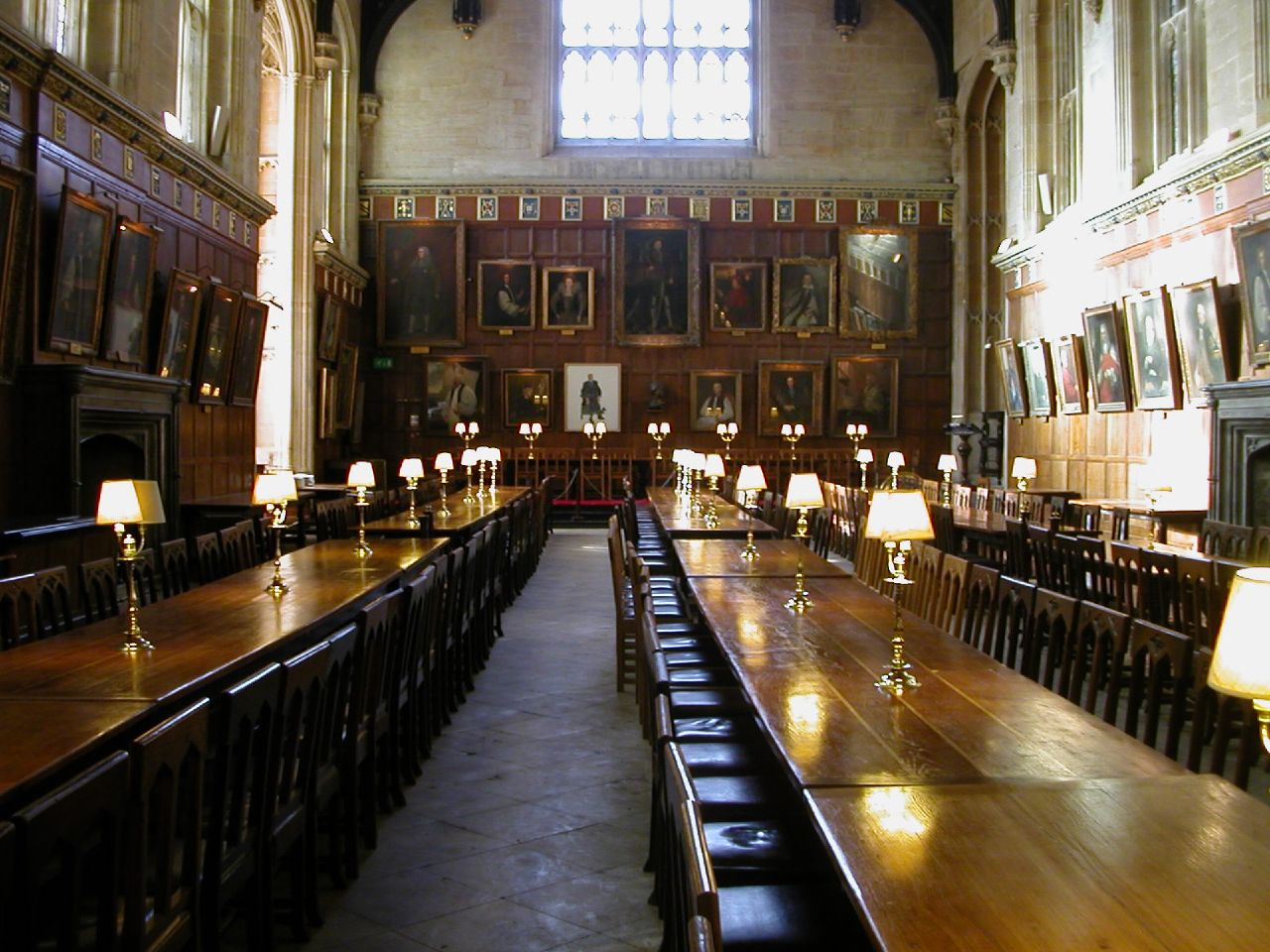 The Great Hall of Christ Church College,  University of Oxford Oxford was replicated to create Hogwart's Hall in the Harry Potter movies. (ImageL