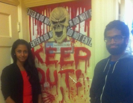 Members of the Tamil Students Association with their great decorations.
