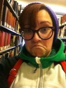 Me in the stacks of Graham Library