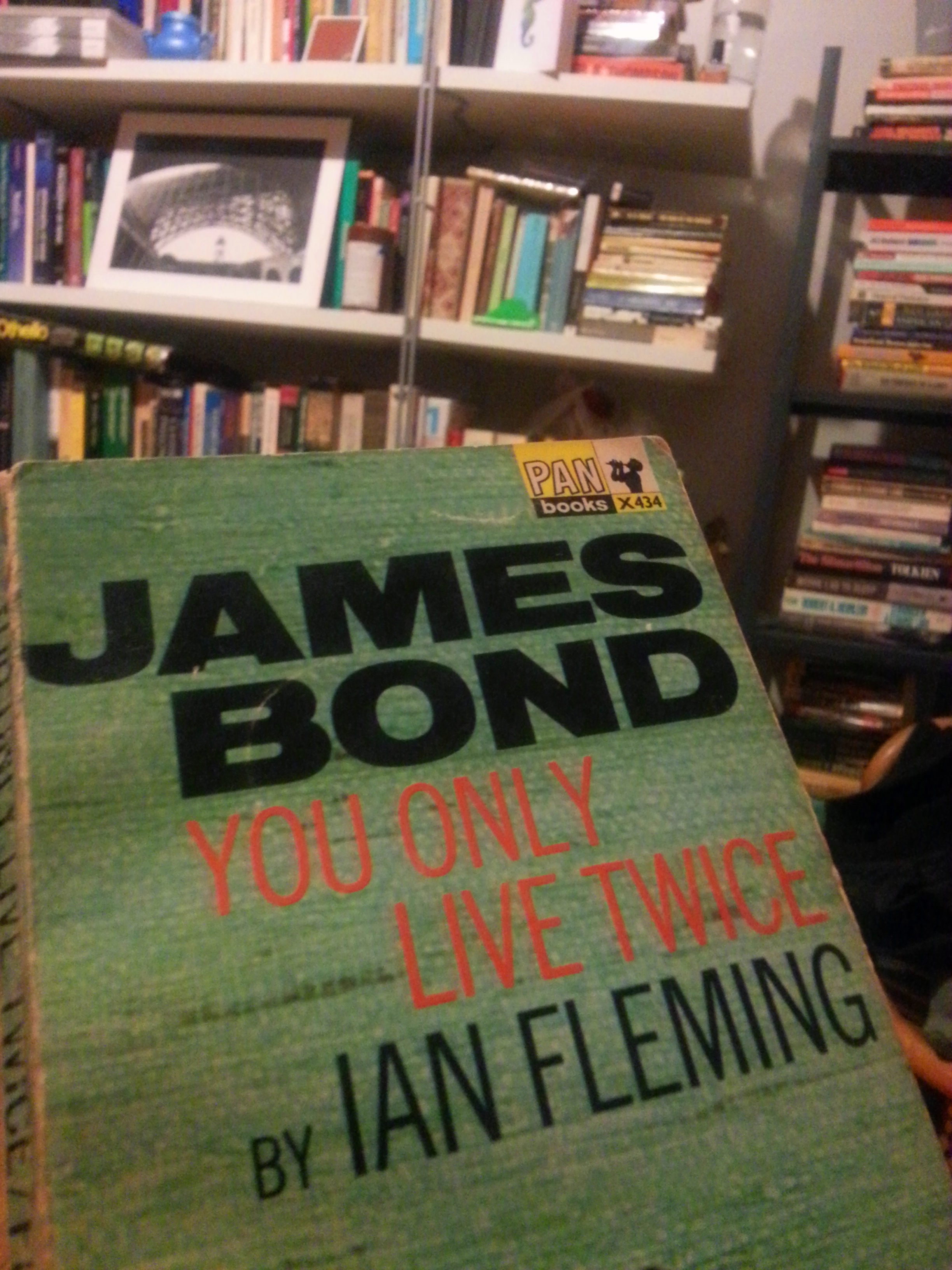 """Photo of Ian Fleming's James Bond book: """"You Only Live Twice"""""""
