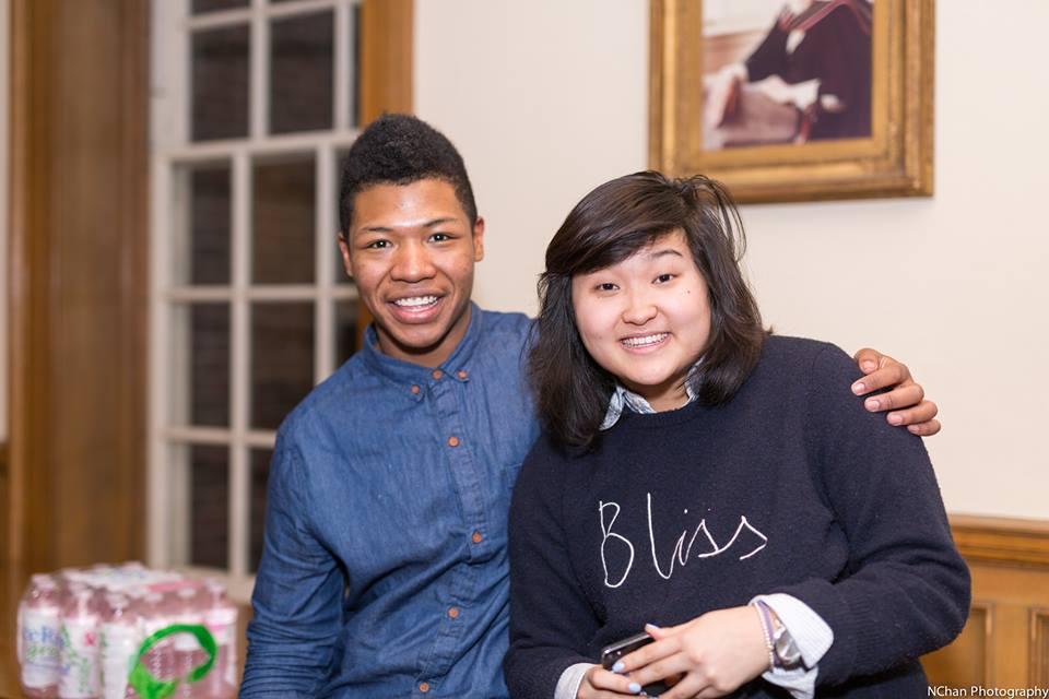 Me and Celeste smiling at that hi-def camera!