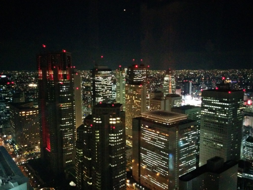 Shinjuku at night.