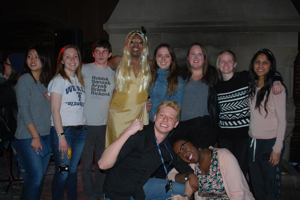 My crazy group of friends supporting Chim after his amazing performance!