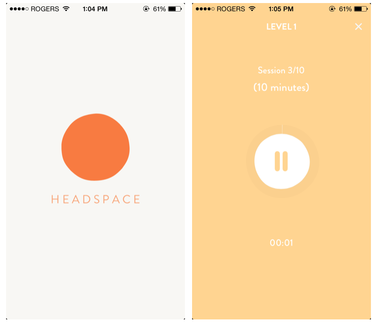 The interface of the headspace app! I'm obsessed with how clean and simple the graphics are!