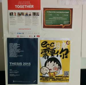 A set of posters, three of which are for optional lectures.