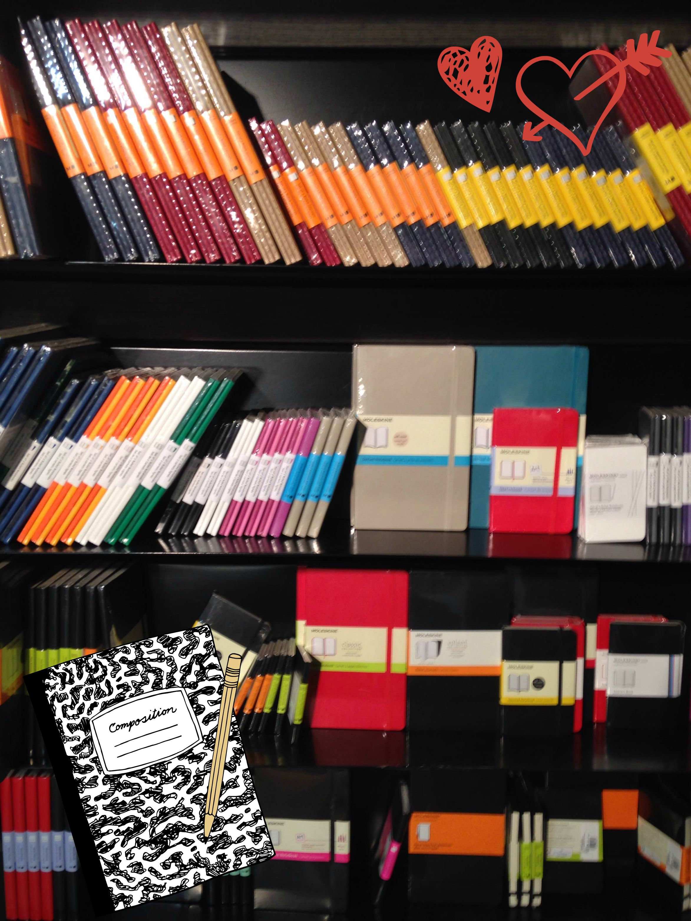 Moleskin notebooks at the U of T Bookstore.
