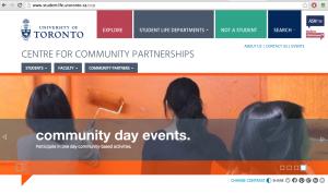 screenshot of center for community partnerships website