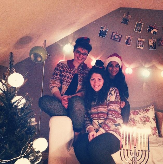 Holiday celebrations in my current apartment with my roomies.