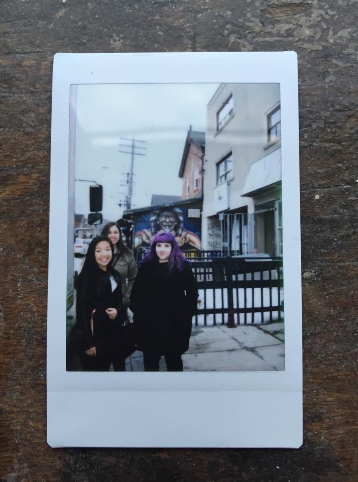 photo of the author and friends in kensington market