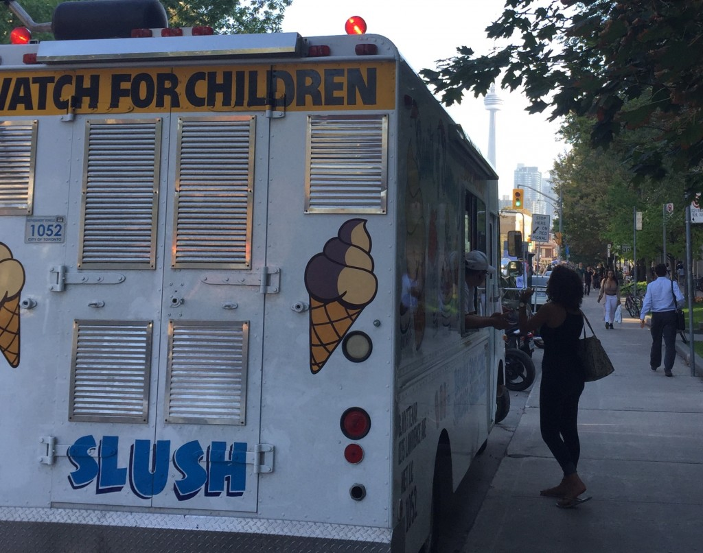 Pictured: An ice cream truck parked on Saint George Street, just north of College.