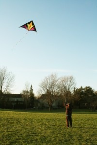 My brother, taking over the kite-flying like a pro after I got a hand cramp.