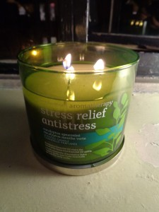 This is not my stress. But this is my stress-reducing candle