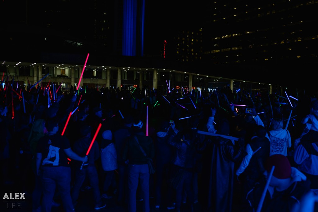 Hundreds of people lit up Nathan Phillips with lightsabers last weekend!