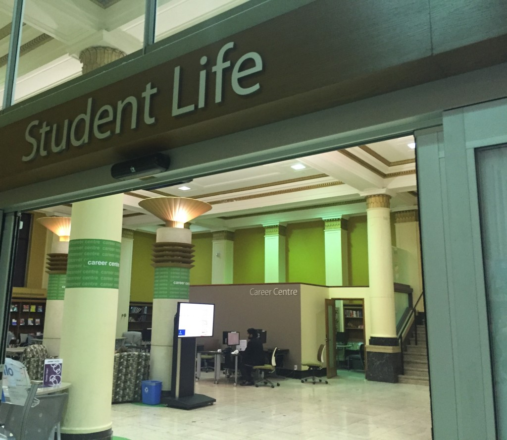 Pictured: Student Life Office and Career Centre