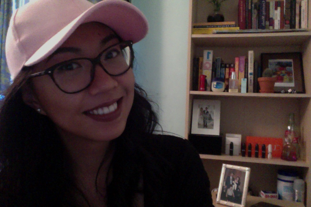 Selfie of me and my pink cap